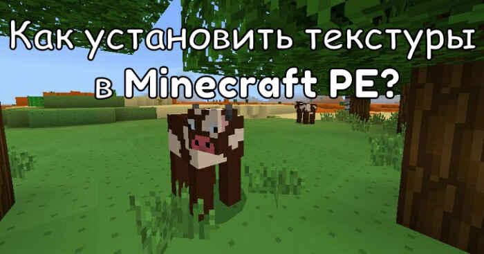 Как установить текстуры в Minecraft PE?