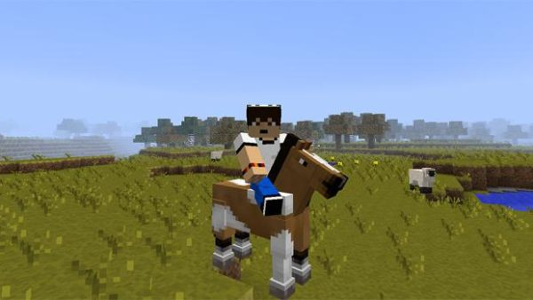 Как слезть с лошади в Minecraft?
