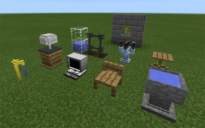 Винтажная мебель для Minecraft Pocket Edition