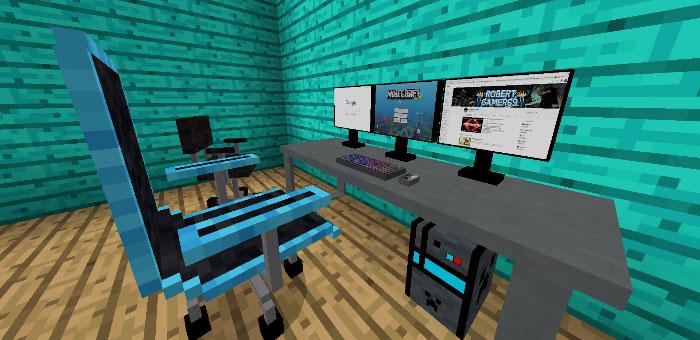 Компьютерная комната для Minecraft Pocket Edition