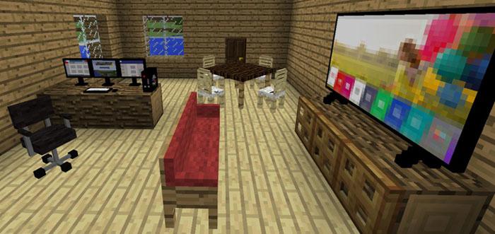Мебель для гостинной для Minecraft Pocket Edition