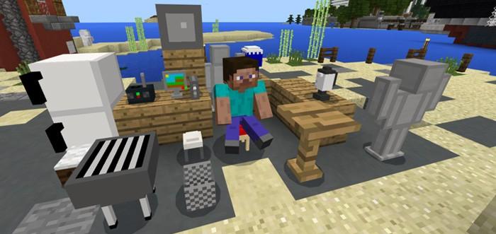 Кухонная мебель для Minecraft Pocket Edition