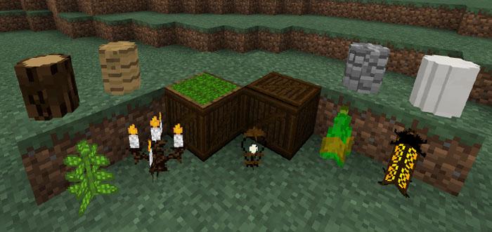 Деревянная мебель для Minecraft Pocket Edition