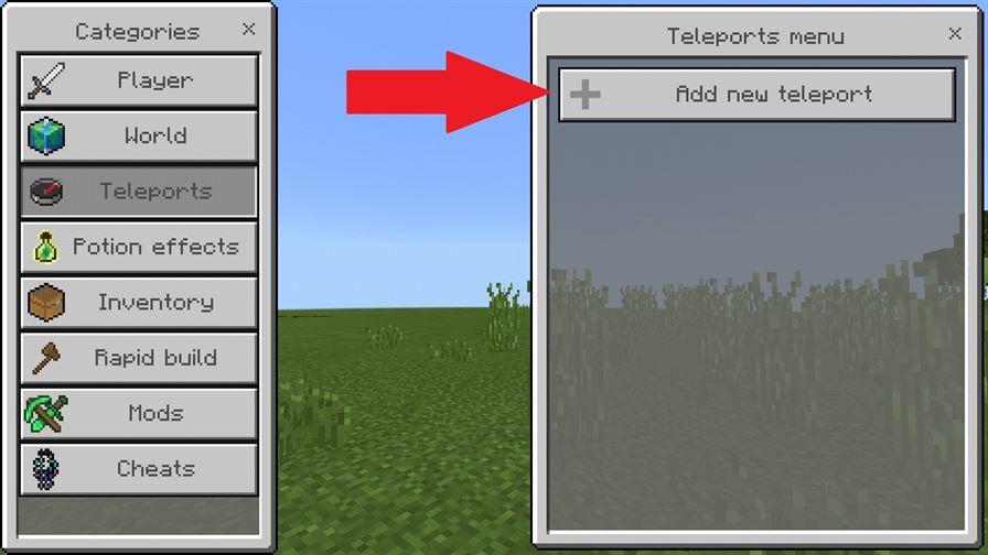 как установить точку быстрого телепорта в Майнкрафт ПЕ