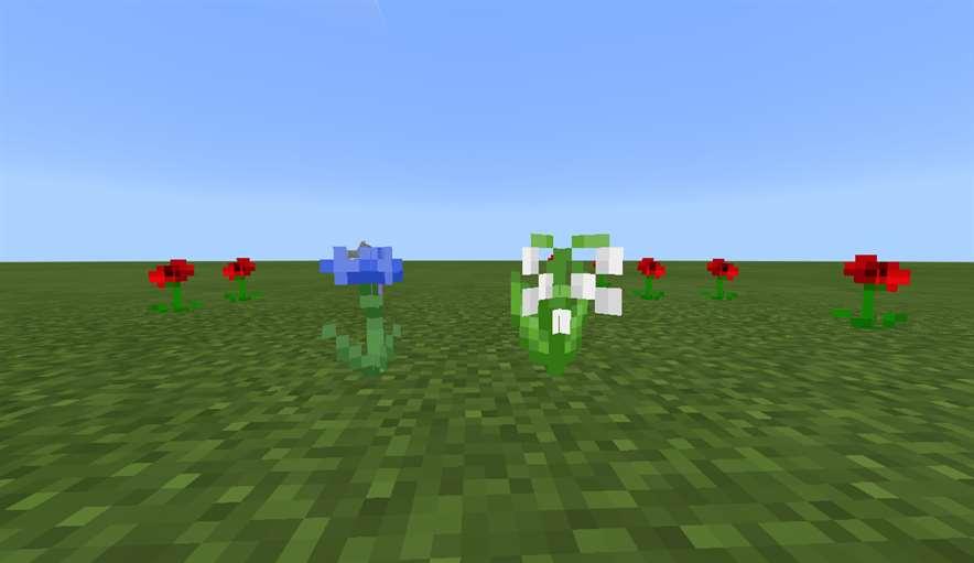 Цветы в Minecraft 1.9.0