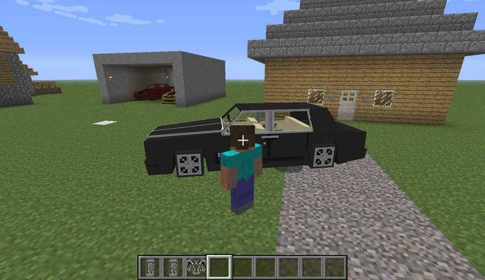 Черная машина для Minecraft Pocket Edition 0.14.0+