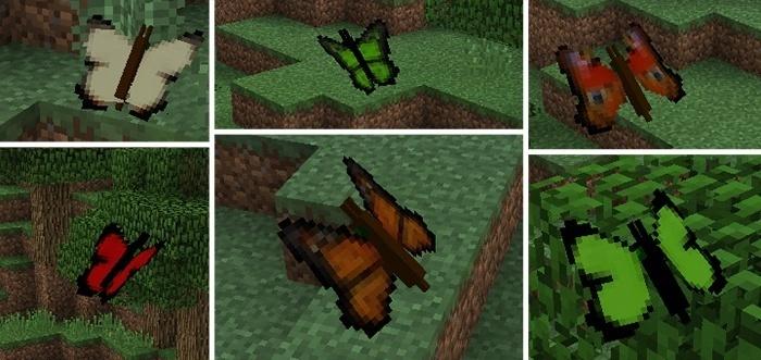 Мод на Бабочки в Майнкрафт 1.11.0