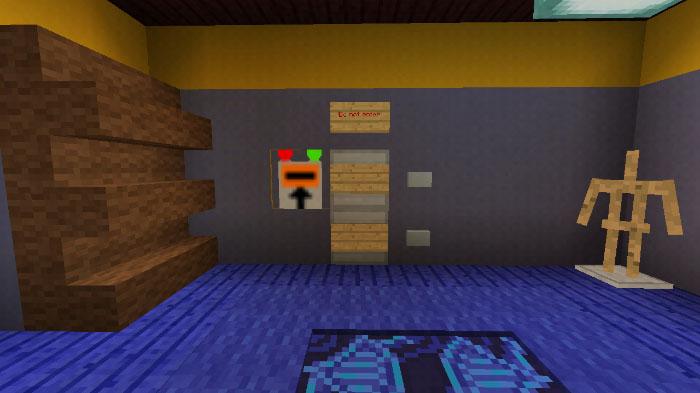 Секретная дверь в подвал соседа в майнкрафт ПЕ