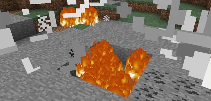 Дроп из разрушенного лаки блока в Майнкрафте