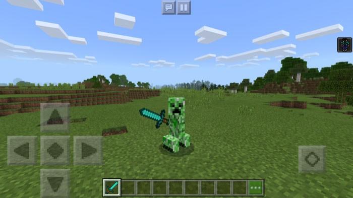 Мод на превращение в крипера Minecraft PE