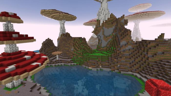 Скачать карту Грибной остров для Майнкрафт 1.11.0