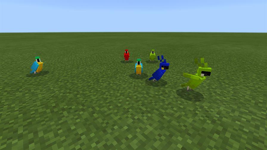 Попугаи в MCPE 1.2.9