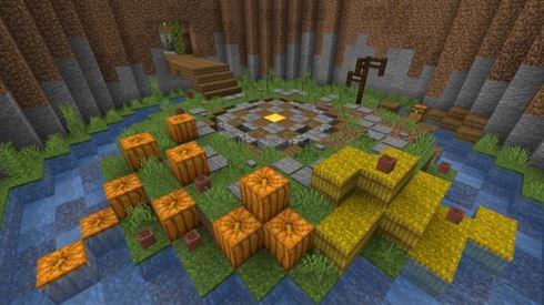 Карты ButtonMegaPuzzle для Minecraft Bedrock Edition