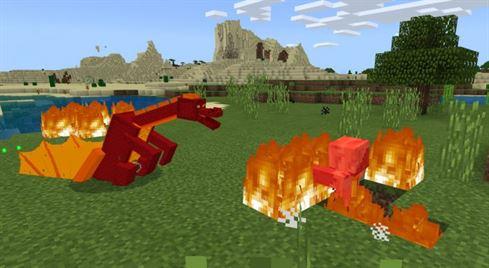Мод на драконов для Майнкрафт Покет Эдишн