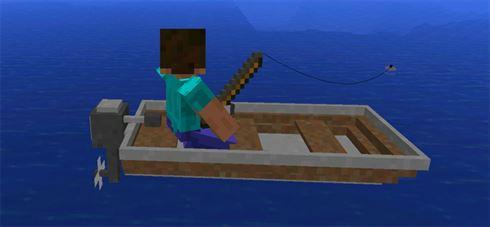 Рыбацкая лодка в Моде для Майнкрафт