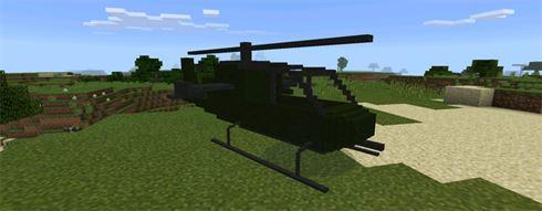 Боевой Вертолет в Моде для Майнкрафт