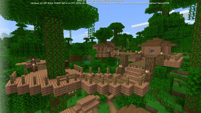 Деревня в джунглях в майнкрафт на андройд