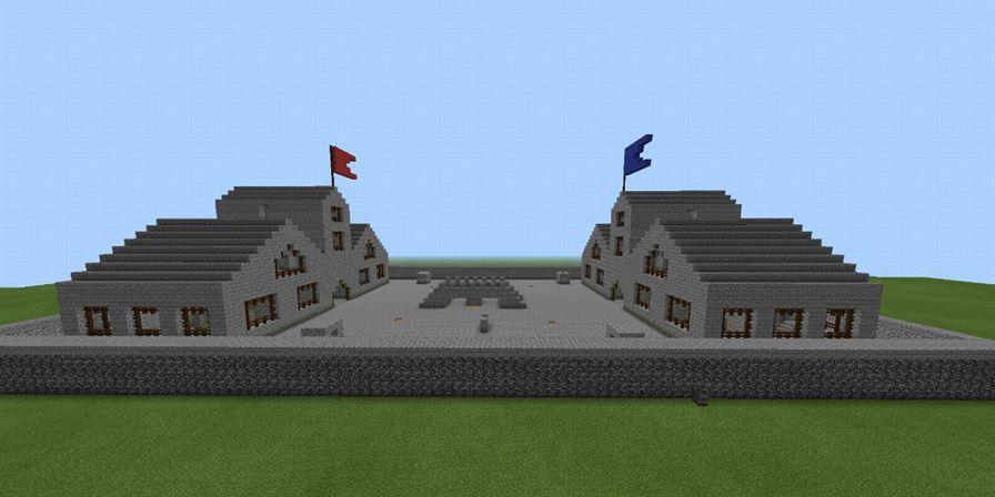 ПВП карты Two Castles для Minecraft Pocket Edition