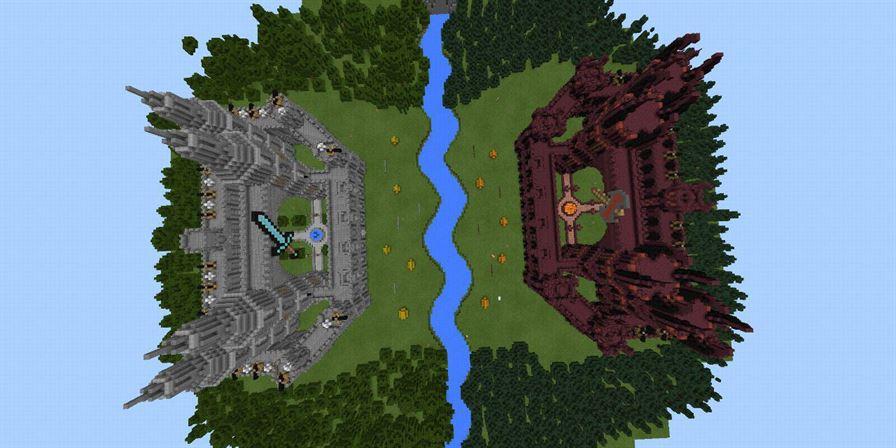 Лучшие ПВП карты Last King Standing для Minecraft Pocket Edition