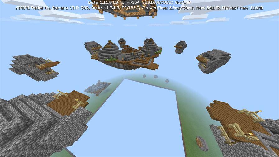 Карта SkyWars Caves для Minecraft PE