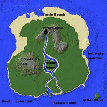 Пиратский остров для Minecraft PE