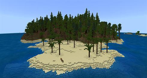 Остров выживателя для Minecraft PE