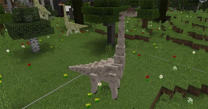 Брахиозавры в Майнкрафт Покет Эдишн