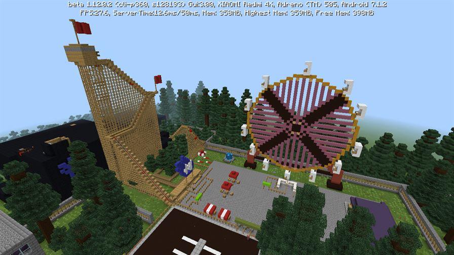 Колесо обозрения в Чернобыле в Minecraft PE