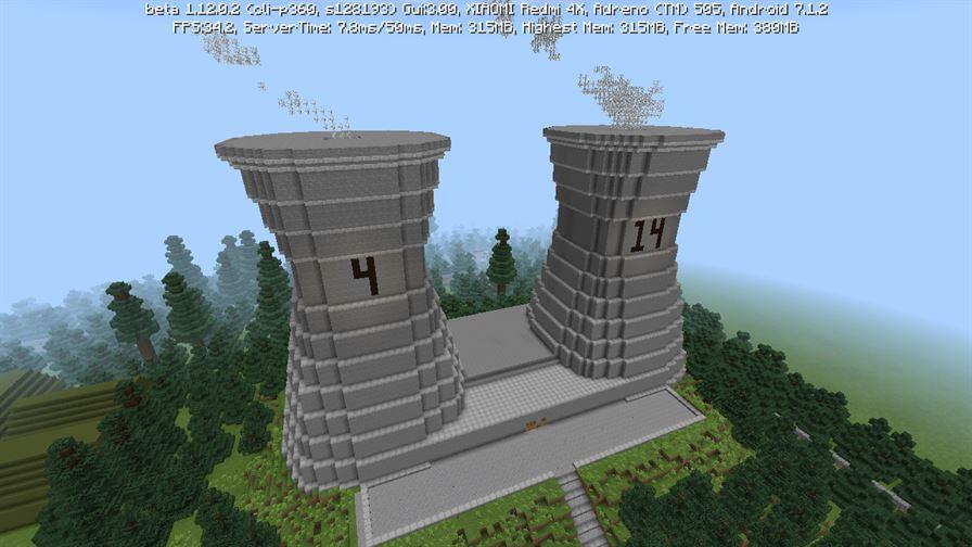 Чернобыльская Атомная Электростанция в Minecraft PE