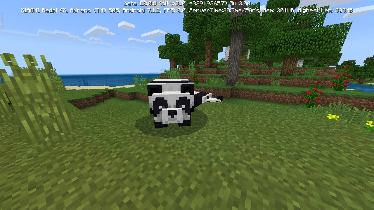 Панды в Minecraft Pocket Edition 1.8.0.8