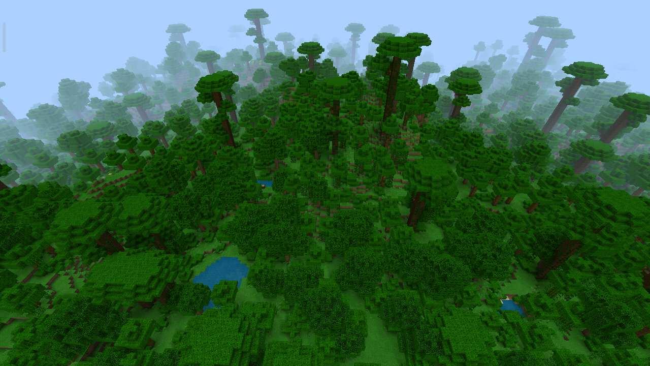 Центр джунглей в Майнкрафт Покет Эдишн