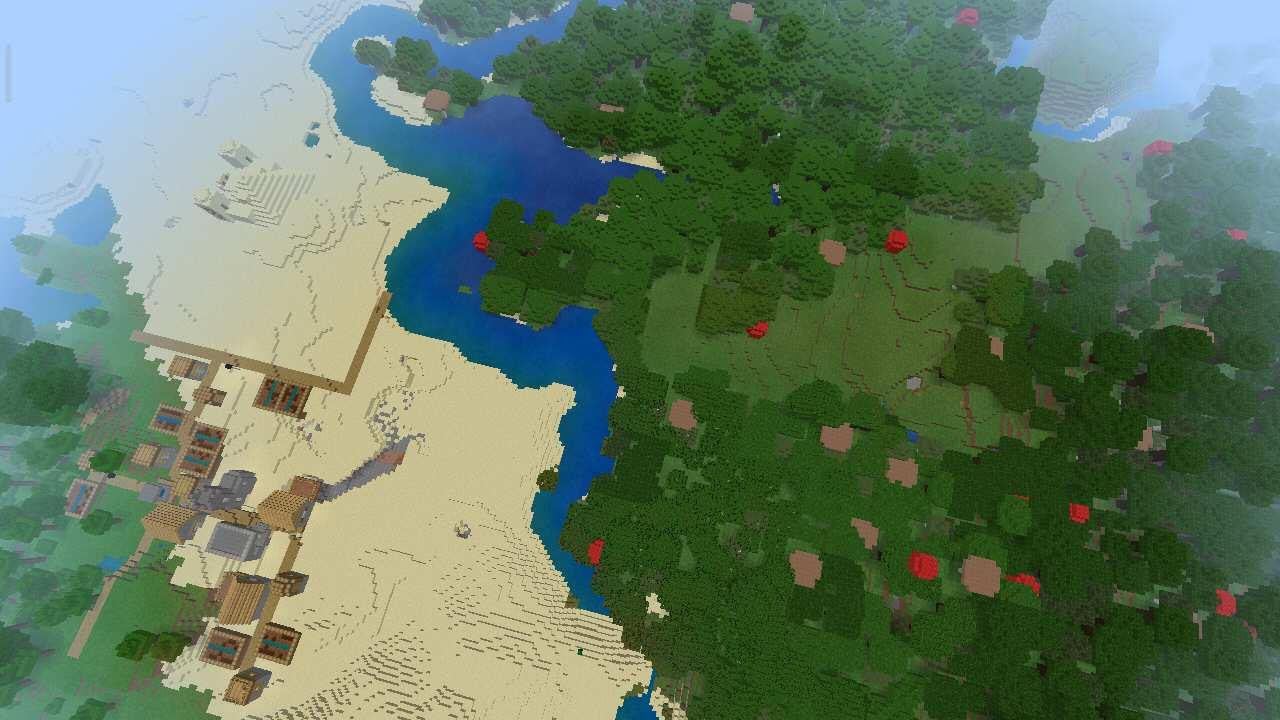 Множество биомов в Майнкрафт Покет Эдишн