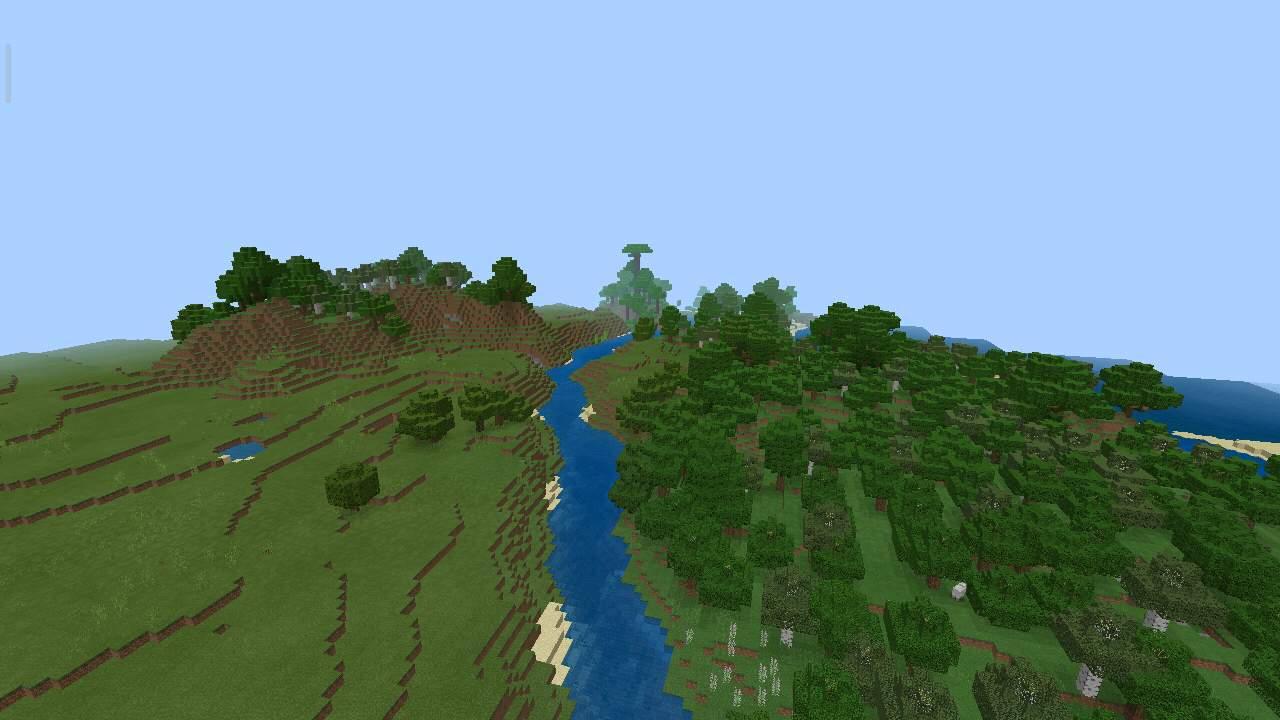 Река к сокровищам в Майнкрафт Покет Эдишн