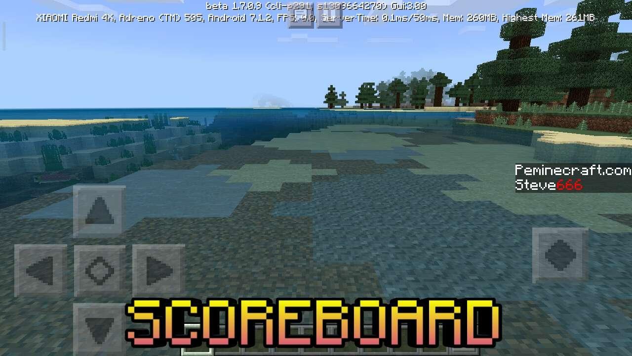 Scoreboard в Майнкрафт Покет Эдишн 1.7.0.9