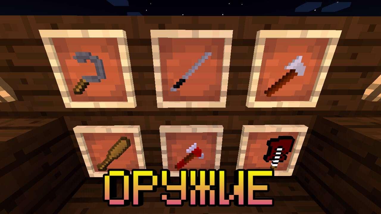 Оружие в моде на зомби для Майнкрафт Покет Эдишн