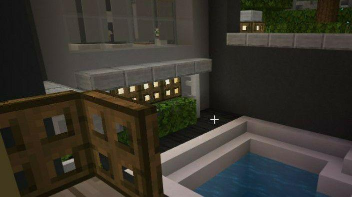 бассейн в карте особняк для Майнкрафт ПЕ
