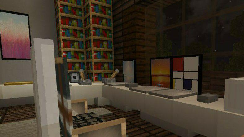 Ноутбуки в карте особняке в Майнкрафт ПЕ