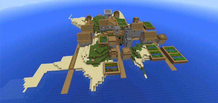 Ключ генерации Островное поселение для Майнкрафт ПЕ