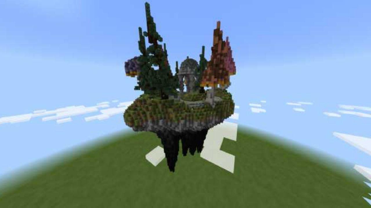 Карта для сервера Воздушный остров для Майнкрафт ПЕ