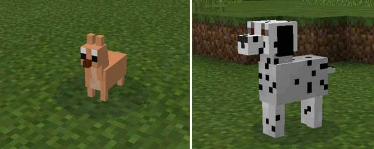 Собаки из мода Догги для Майнкрафт ПЕ