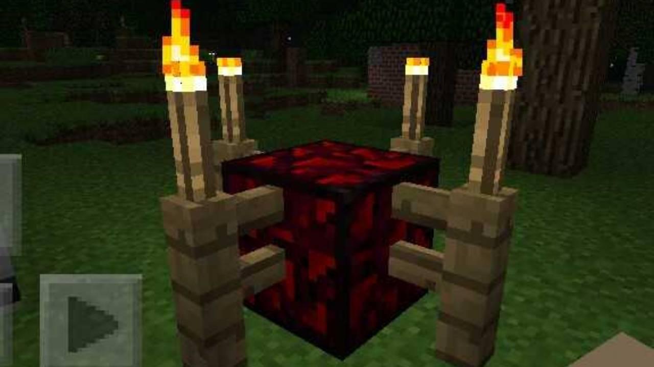 Ритуал из мода на вампиров Перерождение для Майнкрафт ПЕ