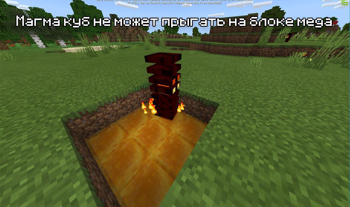 Магма куб не может выбраться из меда