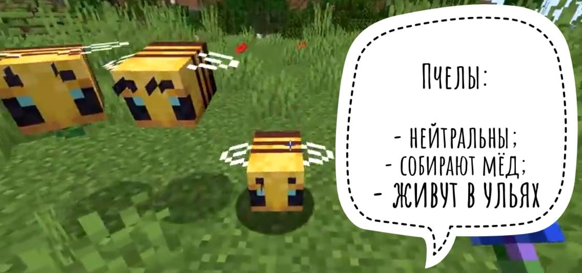 Пчелы в Майнкрафт ПЕ 1.14.0.51