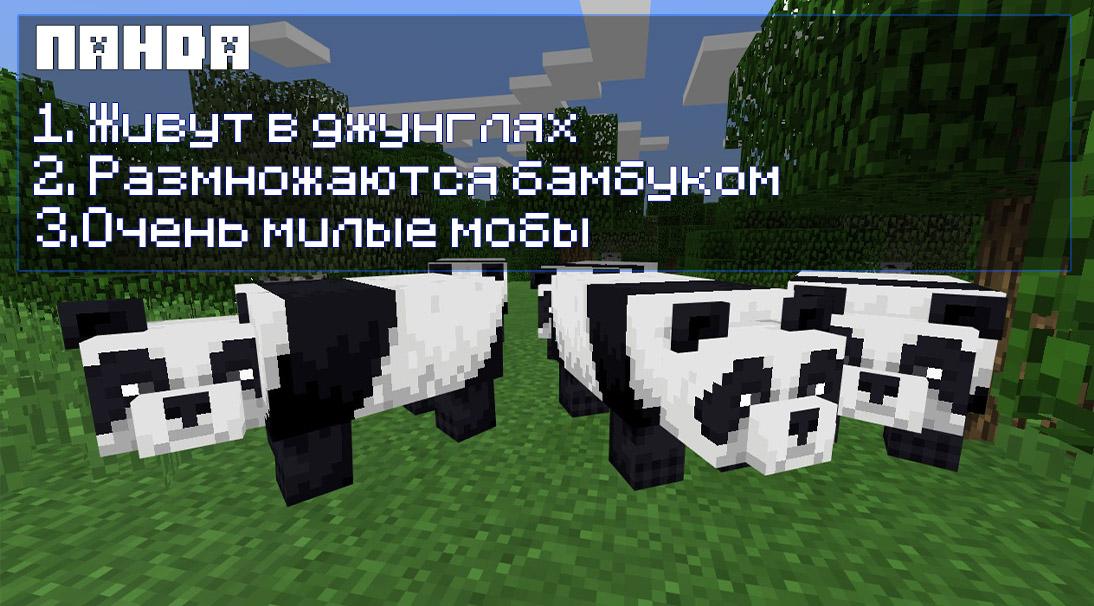 Панда в Майнкрафт ПЕ