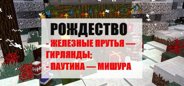 Рождественские текстуры на Майнкрафт ПЕ
