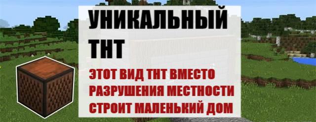 Уникальный ТНТ на Майнкрафт ПЕ