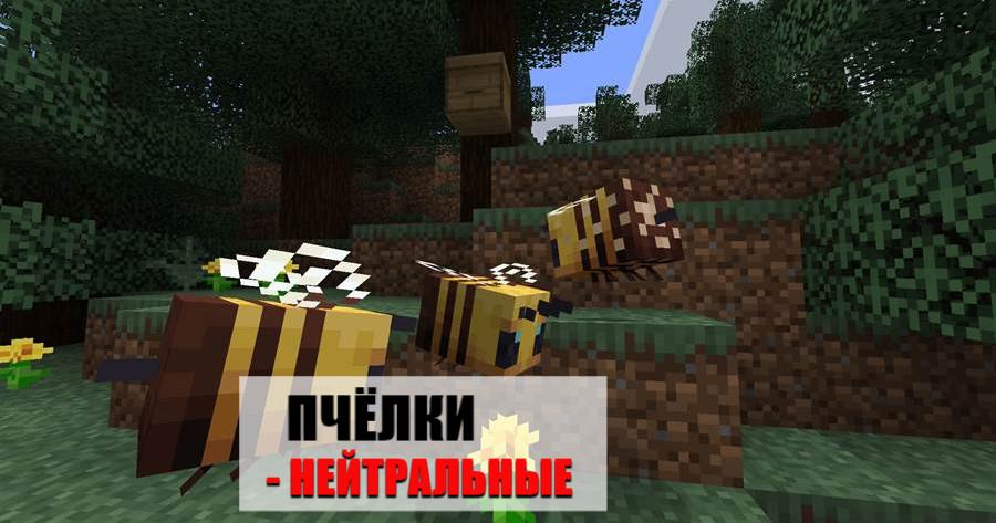 Пчёлки Майнкрафт ПЕ 1.14.60