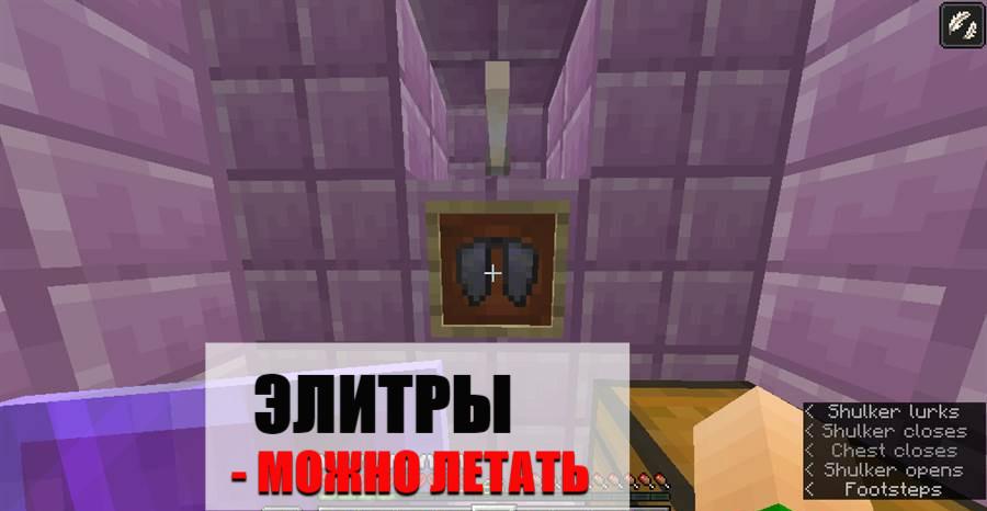 Элитры Майнкрафт ПЕ 1.0.0.7
