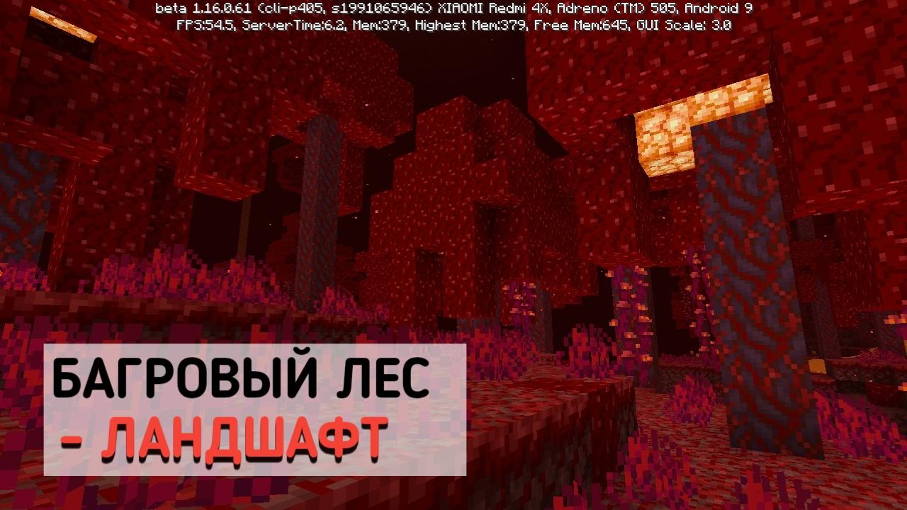 Багровый лес в Майнкрафт 1.16.0.61