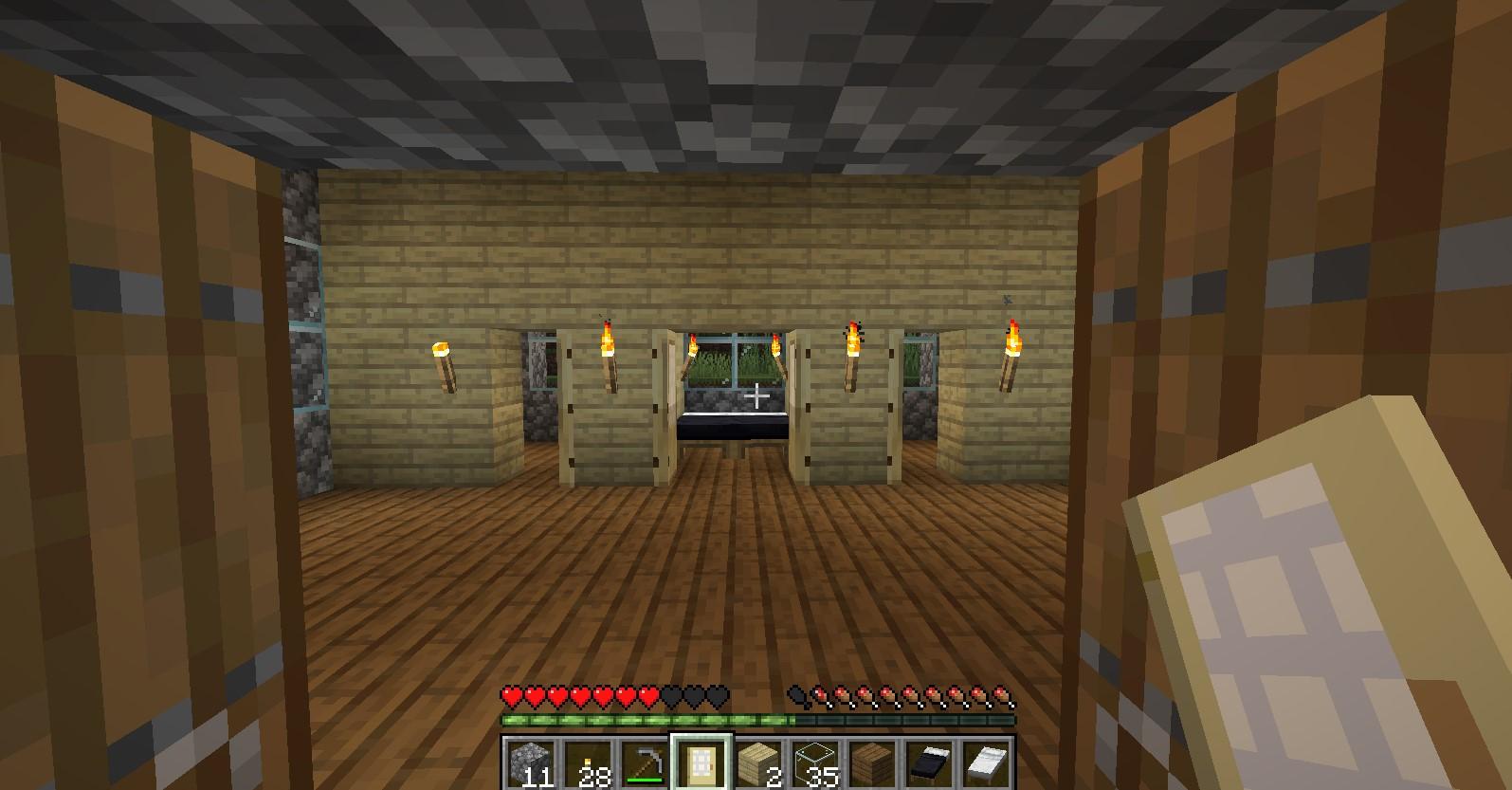 C:\Users\Vitamin\Desktop\Майнкрафт\Этапы строительства\Дом с комнатами и кроватью.jpg